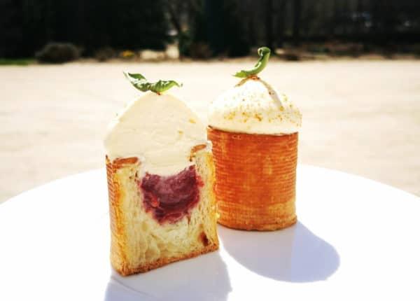 Cupcake «tartine» pain grillé fraise-verveine