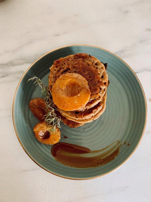 Pancake abricot - châtaigne